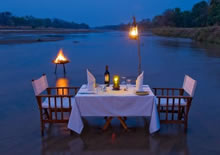 kapamba lodge romantic dinner