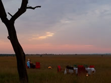serengeti mara camp sundowners